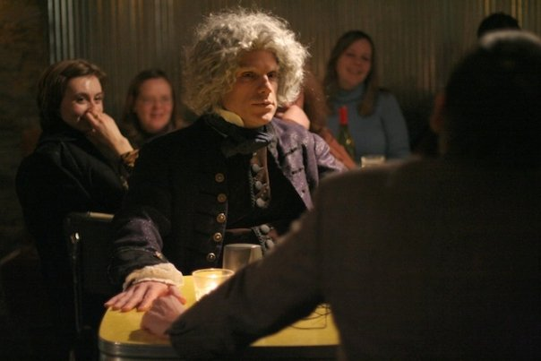 Phil Callen as Beethoven in Tom Poole's short play at Jitters Bar.